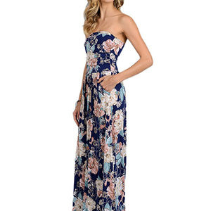 Dresses & Skirts - Strapless FloralMaxi Dress Please Read Desc.